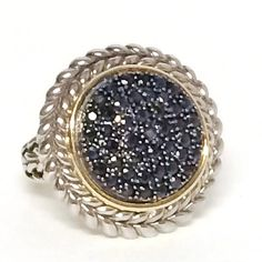 Black Sapphire Sterling Statement Ring by Itsmyfavoritejewelry