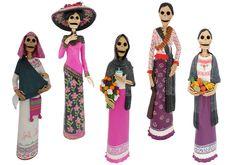 catrinas, arte mexicano. Someday I'll have a collection of catrinas :}