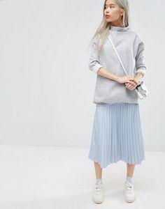 STYLENANDA Pleated Midi Skirt