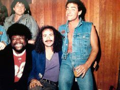 Gregg Rolie, Carlos Santana and Neal Schon Gregg Rolie, Neal Schon, Steve Perry, Greggs, Great Bands, Shawn Mendes, Rock And Roll, Journey, Memories