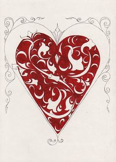 heart art..turn into card..or scrapbook page