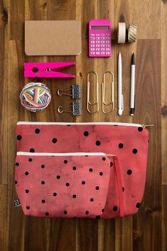 Georgiana Paraschiv Flamenco Dots Pouch   DENY Designs Home Accessories