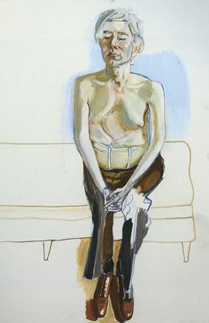 Alice Neel Andy Warhol, Oil and acrylic on linen, 60 x 40 in. Whitney Museum of American Art, New York; gift of Timothy Collins © The Estate of Alice Neel Andy Warhol, Pop Art, Alice, Pittsburgh, Photo Star, Kunst Online, Whitney Museum, Portraits, Figure Painting