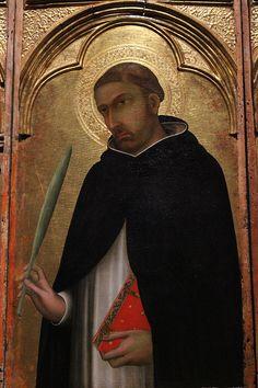 Simone Martini - Pietro Martire - Particolare del Polittico di Pisa - tempera e oro su tavola - 1319 - Pisa, Museo Nazionale di San Matteo.