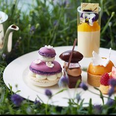 Join us for a spot of floral afternoon tea in LANG & TING to celebrate #RHSChelsea. - at Shangri-La Hotel, At #TheShard, #London