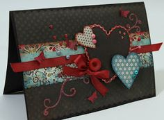 Lovely color scheme on this art card  Valentine Day 2o14
