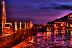 Mousehole Lights : Cornwall xmas lights at mousehole - a wonderful time had each time we visited!