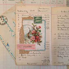 It's time to push myself to use up my ephemera. For the next month, every day, I'm going to be creating collages with my very vintage ephemera. Journal Paper, Book Journal, Garden Journal, Art Journals, Vintage Ephemera, Vintage Paper, Vintage Birds, Paper Art, Paper Crafts