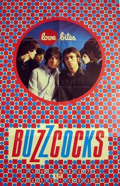 """BUZZCOCKS """"Love Bites"""" 1978 UA promo poster. (My fave by them.)"""