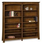 "Amish 68"" Modesto Mission Bookcase Need lots of shelves? You've found them with solid wood quality to back them. The Modesto has 10 adjustable shelves with plate grooves. It's Amish made in Indiana and you select the hardwood and finish color. #bookcases #woodbookcase #officefurniture"