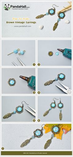 #PandaHall #JewelryMaking #Tutorial If you are a vintage fan, then you must love this design. Follow us and make a pair of #bronze #vintage style #earrings.