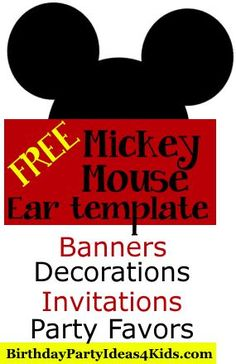 Free mickey mouse ears template use to make mickey and minnie free mickey mouse ears template use to make mickey and minnie mouse party invitations pronofoot35fo Gallery