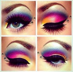 Eye Makeup Tips.Smokey Eye Makeup Tips - For a Catchy and Impressive Look Eye Makeup, Beauty Makeup, Hair Makeup, Exotic Makeup, Makeup Style, Beauty Nails, Hair Beauty, Maquillage Halloween, Halloween Makeup