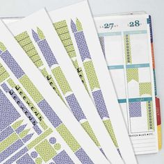 September Vintage Wallpaper Coordinating Planner Sticker Kit // Erin Condren Colors