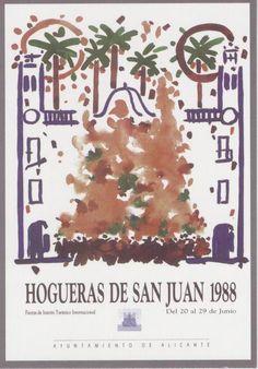 Cartel de Hogueras del año 1988 Alicante.