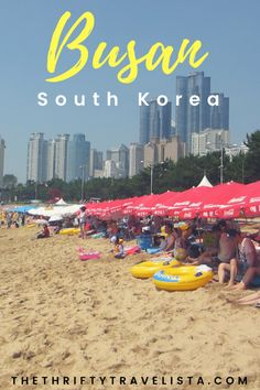 How to have the perfect beach weekend in Busan, South Korea! Where to stay and what to do. #Busan #SouthKorea #Korea #SK #beachday #weekendtrip #traintravel #relaxing