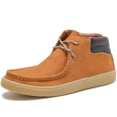 eb85d8730c Bota Casual Over Boots Canadian Couro Nobuck Amarelo