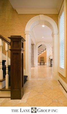 Residential Architects - The Lane Group, Inc. French Mansion, Arch Doorway, Entry Stairs, Residential Architect, Marble Floor, Design Firms, New Construction, Beautiful Homes, Architecture Design