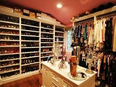 "Master closet organization for my ""shoe problem"""
