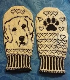 This pattern is avaiable in English and Norwegian. free fair isles ravelry Golden Retriever Mittens pattern by Connie H Design Crochet Mittens Pattern, Baby Boy Knitting Patterns, Knitting Paterns, Crochet Quilt, Knit Mittens, Knitting Charts, Knitted Gloves, Knitting Stitches, Knitting Socks