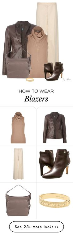 """""""Leather for the weather"""" by ksims-1 on Polyvore featuring STELLA McCARTNEY, Eleventy, River Island, Tory Burch, MICHAEL Michael Kors and Michael Kors"""