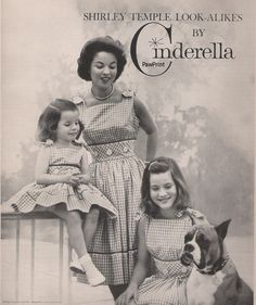 1959 Shirley Temple with her daughters and pet Boxer dog