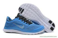 580392-404 Distance Azul Preto Chambray Azul Branco Nike Free 3.0 V5 Mulheres venda de chuteiras