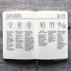 You may be wondering, where are all of the minimalist bullet journal spreads. I've rounded up 15 minimalist bullet journal ideas that will inspire you. Bullet Journal Flowers, Bullet Journal Spreads, January Bullet Journal, Bullet Journal Aesthetic, Bullet Journal Notebook, Bullet Journal Inspo, Bullet Journal Format, Bullet Journal Birthday Tracker, Bujo
