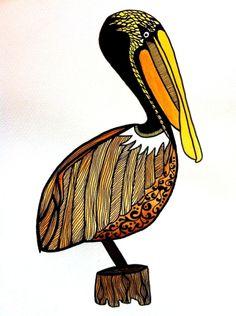 Tattoo Pelican http://www.pepperdsart.weebly.com