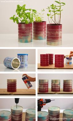 Macetas-aromáticas-con-latas-diy-Pots-with-cans