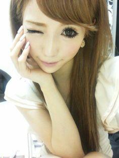 Beautiful Satomi #gyaru#kawaii#makeup