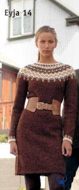 Istex Eyja Brown - knitting kit - Wool Knitting Kit - Shop Icelandic Products