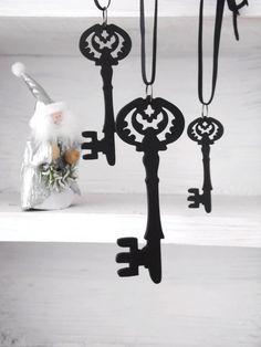 Gothic Steampunk Ornament Decoration x 3 Holiday  - BLACK KEYS Ed 2 - Ltd Ed of 3 sets Etsy UK on Etsy, $15.13