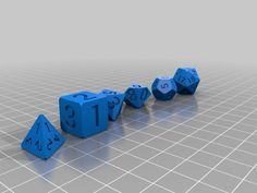 I decided to try on a dice set for starters. Have a simple version for a Only the corners have been cut flat. Font is Robot 3d Projects, Projects To Try, 3d Printing Diy, 3d Printer Filament, Game Concept, 3d Prints, Try On, Homemade Christmas, 3d Design