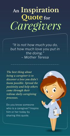 An Inspiration Quote for Caregivers  #inspirationalquotes