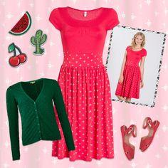 Bliv sommer lækker i denne fine røde kjole fra Blutsgeschwister, haps haps!