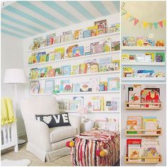 Think outside of the toy box - 50 ideas for organizing play spaces & kids' rooms. Some great ideas!  The lockers would be so cute in a homeschool room. Love the bunk beds and the magnet chore boards. Tons of creative organizational ideas!