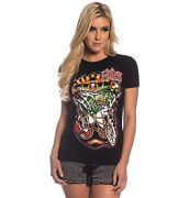 Small Sullen Sailors Grave Tee Black tattoo pinup rockabilly ship pirate girl S