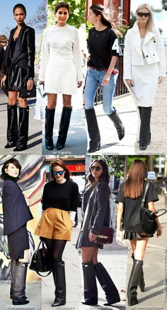 Really not seeing how these givenchy boots are such a big thing. Fancy rainboots is what they remind me of Winter Looks, Fall Looks, Winter Style, Fall Fashion 2016, Winter Fashion, Givenchy Shark, Givenchy Boots, Winter Boots Outfits, Rain Wear
