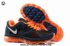 bc14b5f3805b Cheap Mens Light Midnight Metallic Silver Total Orange Nike Air Max 2012  487982-408 For