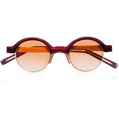 Marni Eyewear (27.025 RUB) ❤ liked on Polyvore featuring accessories, eyewear, sunglasses, glasses, óculos, retro glasses, marni, marni sunglasses, thin sunglasses and marni glasses