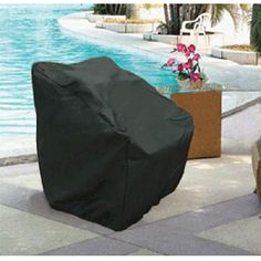 These durable, heavy duty 6 gauge flexible black vinyl covers with stitched seams for extra strength, slip on and off easily with over-sized free form fit and hold secure with strong elastic bottoms Outdoor Rooms, Outdoor Chairs, Clean Patio, Outdoor Furniture Covers, How To Clean Furniture, Vinyl Cover, Chair Covers, Home Gifts, Slipcovers