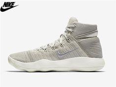 1776cbd6a41a MenS Nike React Hyperdunk 2017 Flyknit Basketball Shoes Pale Grey Sail  String Metallic Silver 917726-002