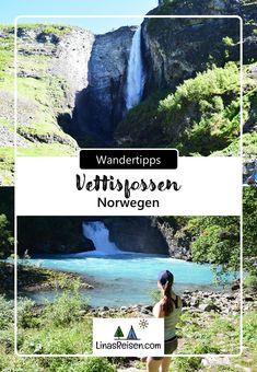 Der Vettisfossen liegt im Landschaftsschutzgebiet Utladalen am Rande des Jotunheimen-Gebirges. Er ist mit einem freien Fall von 275 Metern einer der höchsten Wasserfällen Europas. Desktop Screenshot, Europe, Mountain Range, Campsite, Norway, National Forest, Hiking, Landscape