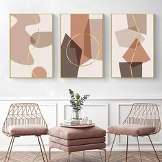 """""""Modern Abstract Geometric Canvas Painting Office Wall Art Decorative Pictures Poster Prints for Living Room Interior Home Decor"""" Office Wall Decor, Office Walls, Living Room Pictures, Wall Art Pictures, Canvas Wall Decor, Wall Art Decor, Canvas Home, Canvas Art, Nordic Art"""