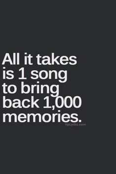 Just 1 song is all it takes