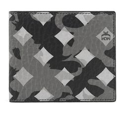 MCM Ottomar Bifold Wallet In Munich Lion Camo ($250) ❤ liked on Polyvore featuring men's fashion, men's bags, men's wallets, mens camo wallet and mcm mens wallet