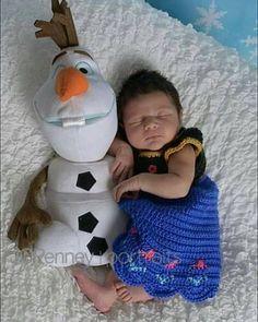 crochet congelado de Disney 'La princesa Ana' inspiración