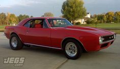 What do you think of this beautiful and clean 1967 Chevy Camaro belonging to JEGS customer, Lewis Pfeiffer?