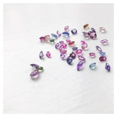 Amazing pastel-colored sapphires... True gem-candy🍭🍬🍡